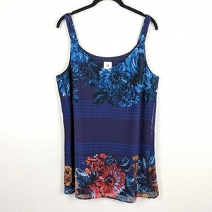 CAbi Artist Cami Floral Print Graphic Tank 3434